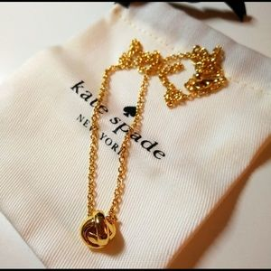 NEW Kate Spade gold knot necklace